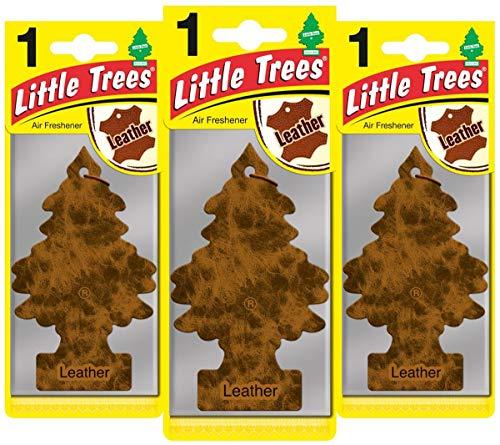 Little Trees Piccoli Alberi LTZ016Air freshener-Leather fragrance-3-pack, Set di 3