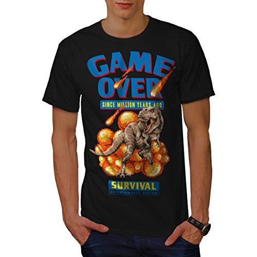 wellcoda Spiel Über Dinosaurier Männer 2XL T-Shirt