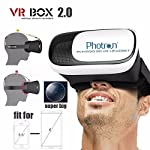 This is a new arrival 3D VR Helmet: VR BOX Play, which supports many smart phones models with Android and iOS system. Put your phone into this VR Box Play, you can enjoy the super big screen effect 3D videos, no need to go to cinema; you can also pla...