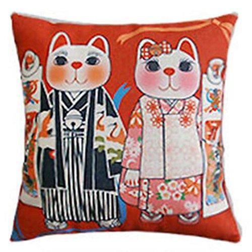 Black Temptation Style Japonais Coussin d'oreiller Confortable pour la Maison/Sushi Restaurant 45x45cm -A4