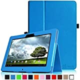 Finte Asus MeMo Pad Full HD 10 Folio Hülle Case - Slim Fit Folio Kunstleder Schutzhülle Cover Tasche mit Auto Schlaf / Weck Funktion für Asus MeMo Pad Full HD10 ME302 / ME302C 25,7 cm (10,1 Zoll) Tablet-PC, Blau