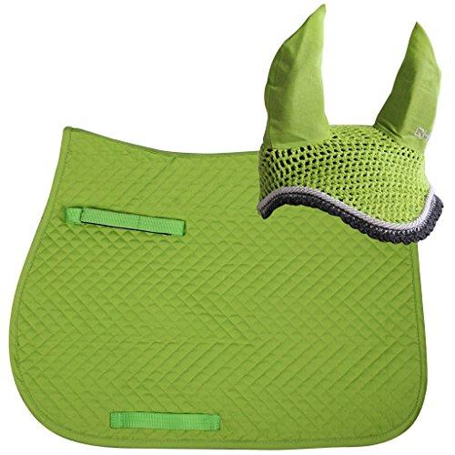 QHP Schabracken - Fliegenhauben-Set Color (Pony VS, Lime)