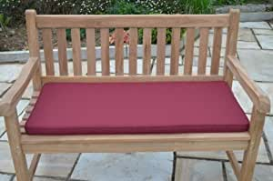 2 posti, 1,1 m)/0,91 Meters-Cuscino per panca da giardino, cuscino Only-, colore: bordeaux