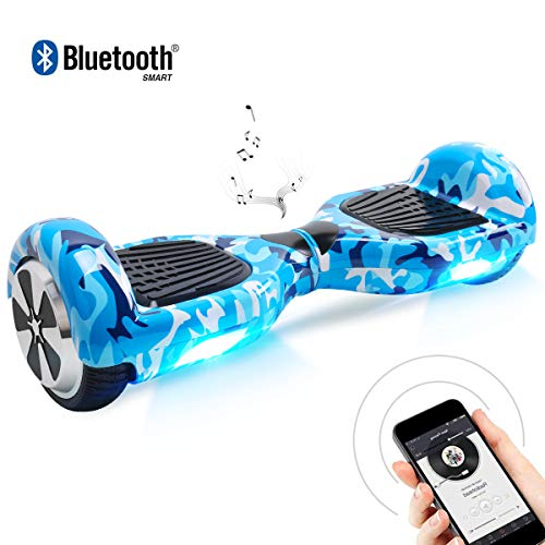 "BEBK Hoverboard, 6.5"" Self Balance Scooter mit 2 * 250W Motor, LED Lights Elektro Scooter (Army)"