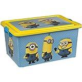 ColorBaby - Caja ordenación 23 litros, diseño minions (76611)