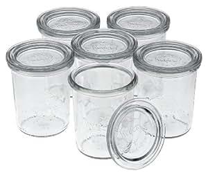 Weck Bocal de moule à bord arrondi Mini,,, Verre, transparent, 160 ml