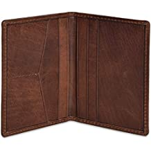 Portlee Genuine Leather Bifold RFID Protected Credit Debit Card Holder Wallet for Men Women