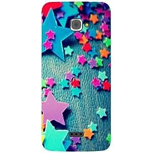 Casotec Colorful Stars Design 3D Printed Hard Back Case Cover for InFocus M350