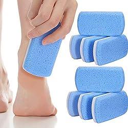 8 Packungen Doppelseitiger Bimsstein für Füße, Hornhautentferner und -Wäscher für Harte Haut, Pediküre-Werkzeuge, Hornhautentferner für Harte Haut