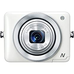 Canon PowerShot N 12.1 MP Point and Shoot Camera (White) with 8x Optical Zoom 8231B020AA