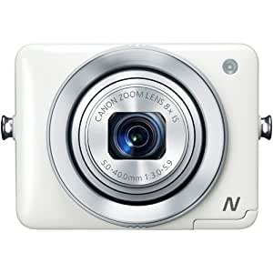 Canon PowerShot N 12.1 MP Point and Shoot Camera (White) with 8x Optical Zoom