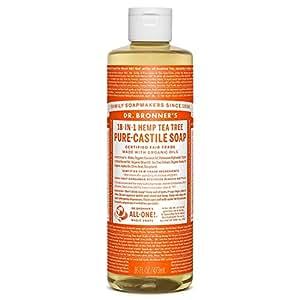 Dr. Bronner's Magic Soaps, 18-1 Arbre de thé de chanvre, Savon de Castille pur, 16 fl oz (472 ml)