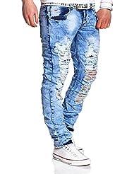 MT Styles Destroyed Jeans Slim Fit pantalon RJ-2224