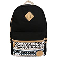 Marsoul Polka Dot lace Korean Fashion Ladies Laptop Shoulder School Bags Casual Style Lightweight Canvas Backpack Travel Daypack (Navy Blue) … B01MS6RCAC