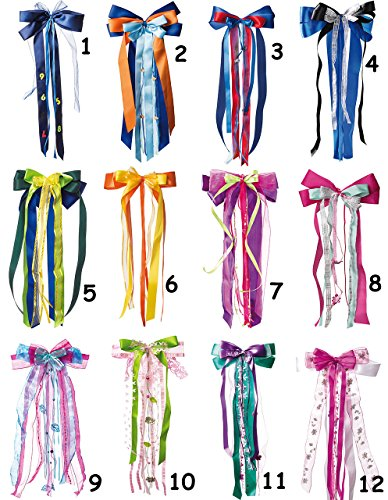 Belldessa große XL Schleife - 24 cm breit u. 55 cm lang -  blau & grün  - Geschenkband / Geschenkschleife mit edlen Satin Bändern, Tüll & Bastband - für Geschenke und..