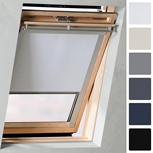 Sol Royal SolReflect D12 Dachfenster Rollo Verdunkelung & Thermo Hitzeschutz für 38x54 cm C02 Weiß