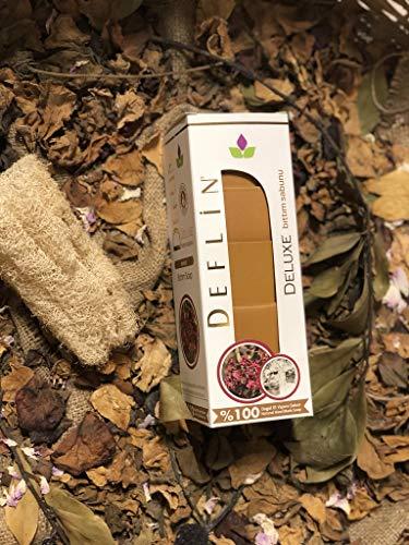 Deflin ✔ Bıttım Seifen Natur -%100 Handgemacht - aus Olivenöl und Lorbeeröl ''5 Stück 750 Gr'' -