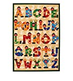 VIVA 17113 Sevi ABC Teppich, Synthetikfaser, mehrfarbig, 100 x 140 x 1,40 cm
