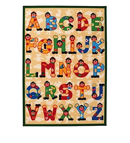 Viva SEVI ABC Teppich Synthetikfaser Mehrfarbig 100 x 140 x 1,40 cm