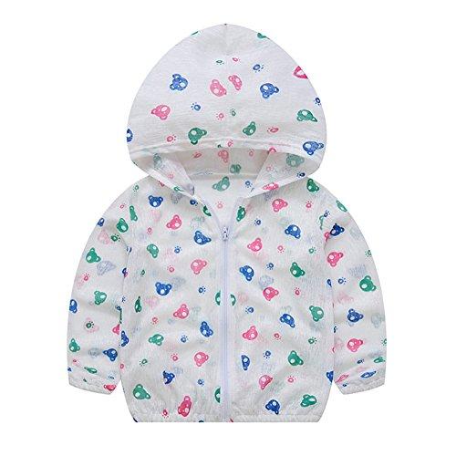 Mädchen-Jungen-Sonnenschutz-Kleidungs-Baby-Plane Reißverschluss-Jacken-Frühling und Sommer-Dünne Jacken-Jacken-Mantel-Frucht-Drucken (Baby Onsie Mantel)