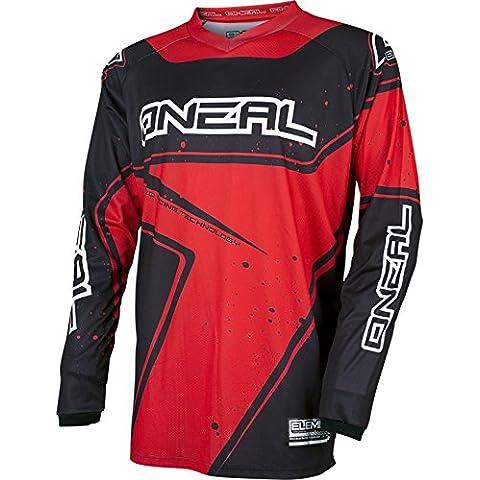 Jersey Mx Oneal 2017 Element Racewear Negro-Rojo (Xl , Rojo)