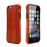 eimolife ® pintado rojo Bixa orellana funda de móvil, alta fuerza cinco Color Natural madera teléfono caso cabido perfectamente para el iPhone 6 iPhone 6s (Bixa orellana)