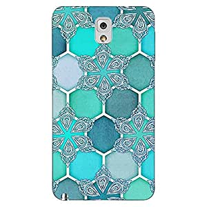 Jugaaduu Floral Hexagons Pattern Back Cover Case For Samsung Galaxy Note 3 N9000