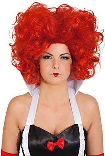 Orlob rote Königin Damen Perücke Teufelin zum Kostüm Karneval Fasching