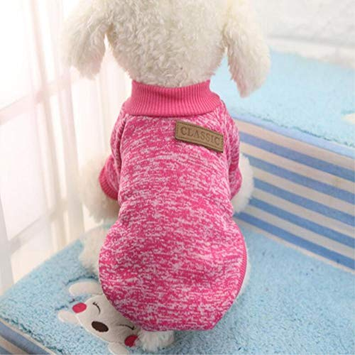Dizoony Hunde Kleidung Haustier Pullover Sweater Welpen Classic -