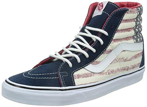 Vans U Sk8-Hi Reissue Americana, Baskets Basses Mixte Adulte Multicolore (Americana/Dress Blues)