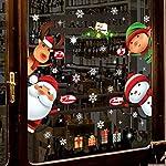 Lingqiqi Decorazioni Natalizie Autoadesivi di Vetro della Finestra Staccabili della Decalcomania Decorativa murale della casa di Natale Adesivo per Finestra