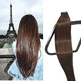 Best Extensions de cheveux humains - Myfashionhair Bande En Extensions de Cheveux Humains Brun Review