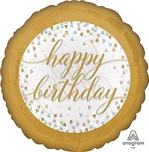 Amscan 3717701 Happy Birthday Pastel Confetti - Globo de plástico