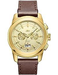 JBW hombre j6352b Mohawk 0.12 CTW 18 K chapado en oro diamante de acero inoxidable reloj
