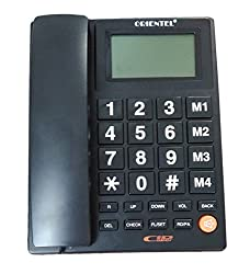Glives Landline Phone Orientel KX-T1599 Telephone Corded Phone for Office and Home Purpose