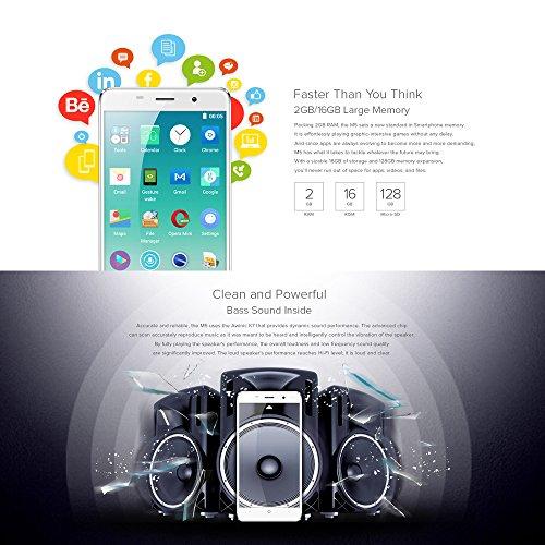 LEAGOO M5 Smartphone 3G WCDMA MTK6580A 2 5D 5 0 Inches HD 1280   720 Pixels Pantalla Android 6 0 2G 16G 5MP 8MP C  mara Dual Fingerprint Metal del Mar