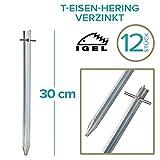IGEL T-Eisen-Hering 30cm verzinkt (12 Stück)
