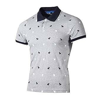 eb31707fc96e Bild nicht verfügbar. Keine Abbildung vorhanden für. Farbe  Polo Shirt  Herren T Shirt Top Sommer Kurzarm Polohemd Slim Fit ...