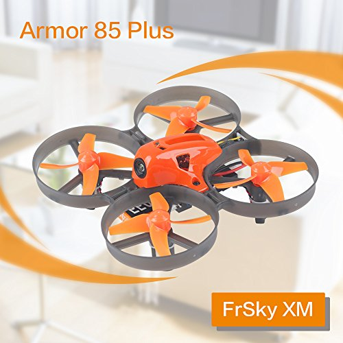 Armor 85 Plus Micro FPV Racing Drohne 85mm Whoop Quadcopter 8.5x20mm 8520 Brushed Motor mit XM Frsky Empfänger BNF (Motor 48 Rahmen)