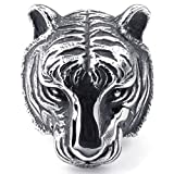 Mens Rings Stainless Steel Tiger Black Silvery Gothic - Best Reviews Guide