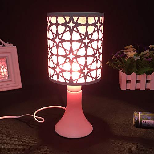 Lámpara enchufable de hierro fragante lámpara de mesa decorativa regalo creativo atenuación interruptor azul