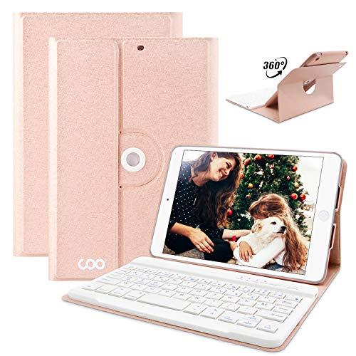 COO iPad Mini 1/mini 2/mini 3 Hülle Tastatur, 360 Grad rotierende Stand Keyboard Case mit