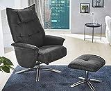 HTI-Living Relax-Sessel Manzano Stuhl mit Hocker, Mikrofaser Grau, Relaxfunktion