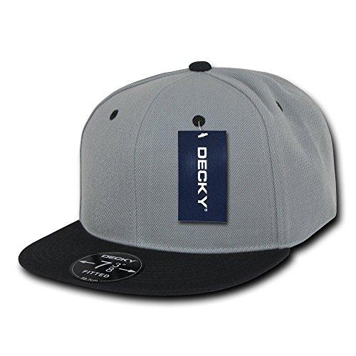 Decky Retro Fitted Caps Head Wear, Herren, grau/schwarz, Size 27 Preisvergleich