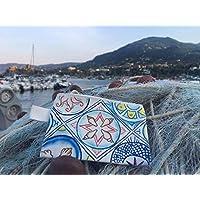Pochette maioliche, dipinta a mano. Sicilia.
