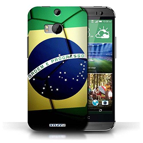 Coque de Stuff4 / Coque pour HTC One/1 M8 / Allemagne Design / Nations de Football Collection Brésil/Brésilien