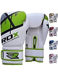 RDX QUADRO-DOME - Guantes de boxeo de fitness, color verde, talla 16 oz