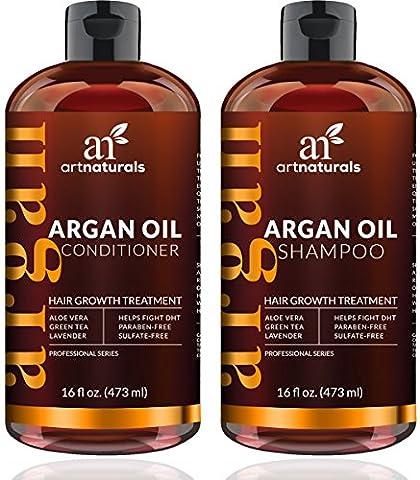 ArtNaturals Arganöl Haarwachstum Shampoo und Conditioner - Haarwuchs Anregend - je 473 ml - Sulfat-frei
