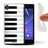 Coque Gel TPU de Stuff4 / Coque pour Sony Xperia Z2 / Piano Design / Clés/Boutons Collection
