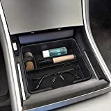 Womdee Tesla Model 3 Zubehör, Tesla Model 3 Console Organizer Palette Lager Box Behälter mit Münzkartengläsern Box Insert Armrest Storage Holder für Tesla Model 3 Accessories
